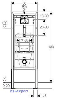 urinal mit deckel und beschichtung geberit duofix samba dr ckerplatte neu ebay. Black Bedroom Furniture Sets. Home Design Ideas